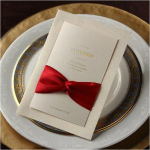 Elegant Wedding Cards Invitations with Ribbon 2015 Wedding Favors ...