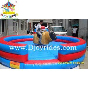 China Funny Inflatable mechanical rodeo bull small amusement park equipment on sale