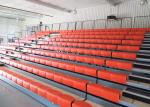 Indoor Retractable Seating System Anti - Slip With1000mm Standard Front Rails