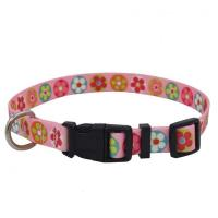 China Adjustalbe Personalized Nylon Dog Collar Easy Clean With Reflective Line on sale