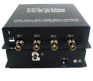 China 4K-SDI to fiber converter,Latency 1ns broadcasting 4-CH 3G-SDI video to fiber converter,Pass pathological  testing on sale