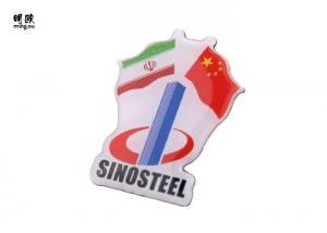 China Flag Shaped  Metal Lapel Pins National Custom Organization Emblem Light Weight on sale