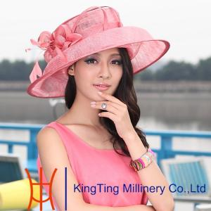 Quality Ladies Sinamay Hats   straw hat with Nice Unique Feather Decoration  for sale ... 7889acb2080
