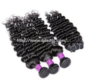 China Natural Curly 100% Virgin Unprocessed Human Hair Extension Weft on sale