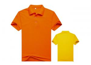 China Men Colorful 100% Cotton Polo Shirts With Heat Transfer / Silk Screen Print Logo on sale