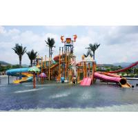 China Childrens Fun Play Slides Aqua Tower Water Playground Equipment For Water Parks on sale