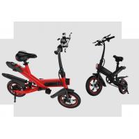 White / Black / Red Fold Up Electric Bike , Electric Mini Bike For Adults