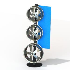 China One Side Wheels Auto Parts Display Racks With Metal Tube Frame Heavy Weight on sale