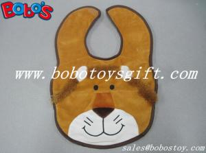 China 13Cheap Baby Stuff Plush Brown Lion Baby Bibs on sale