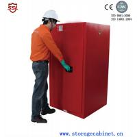 Red Paint Ink Chemical Storage Cabinet For Flammable Liquids 60 Gallon