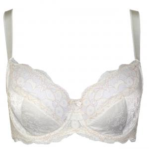 China Elastic JacquardSatin Sexy Full Figured Bras , High Centered Front  Delicate Lace on sale