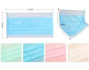 China Skin Friendly Disposable Non Woven Face Mask , Disposable Nose Mask Comfortable  on sale