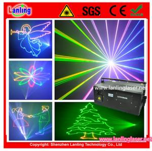China Outdoor 15W stage laser RGB 40kpss ILDA Animation Laser show L5159RGB on sale