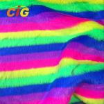 Knitted Colorful Faux Fur Fabric 500-1000 G/M Flame Retardant Anti Static