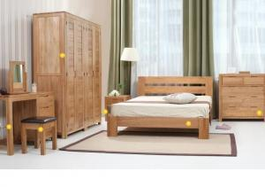 Simple Style Hardwood Bedroom Furniture Sets , Economic Full ...