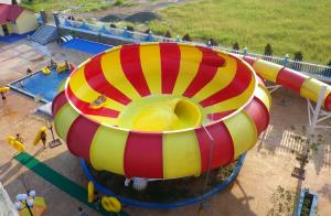 Quality Aqua Park Fiberglass Water Slides, 19m Height Waterpark Super Bowl For Water for sale