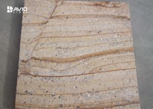 China Yellow Sandstone Stone Cladding Tiles Moisture Absorption elegant decor on sale