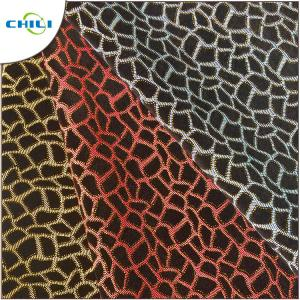 China Flocked Glitter Leather Fabric 1.0mm Thickness 54/55 Width Abrasion Resistant on sale
