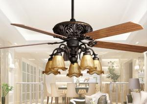 Quality Retro Ceiling Fan Light Fixtures , Home Decorative Rustic Ceiling  Fans With Lights For Sale ...