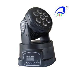 China 7 X 10W 4in1 DMX Led Mini Moving Head LED Spot Light 25 Degree Rgbw Quad Color on sale
