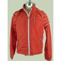 Anti Pilling / Windproof Orange  Custom Sport Jackets For Men