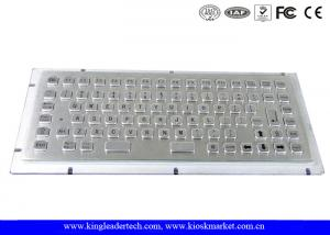 China 86 Keys Stainless Steel Panel Mount Keyboard With 12 Function Keys on sale
