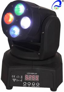 China Mini Moving Head Wash Beam Effect  4pcs 4 in1 10W RGBW Light Stage Lighting on sale
