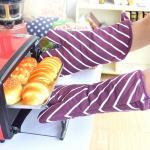 AZO Free Cotton Canvas Kitchen Baking Glove wih Stripe Pattern Printed