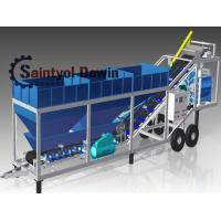 40 CBM/Hr Mobile Concrete Batching Plant Mixing Plant China Maufacturer
