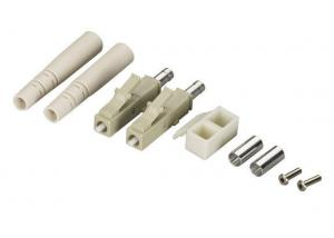 China Zinc Alloy / Bronze Duplex LC Fiber Optic Connector with Ceramic Ferrule and Clip on sale