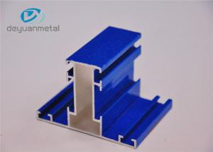 China Mill Finished / Blue Powder Coating Wood Grain Aluminum Shapes 110Mpa Yield strength on sale