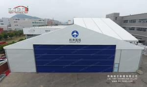 China 6m Height  Alucminum Hangar Aircraft Tent With Sandwich Hard Walls Roller Shutter on sale