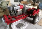 Double Capstan Drum Winch 5 Tons With Trailer Match Honda / Yamaha Gasoline Engine