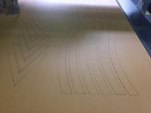 China Cabin Interiors Panel Drawing Pen marking CNC Plotter Machine on sale