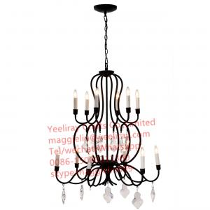 China YL-L1010 american style Dining room modern decorative metal chandelier with crystal on sale