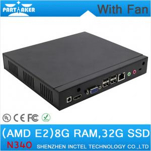 China Mini PC Desktop PC with fan 1.7Ghz CPU RJ45 HDMI VGA COM 8G RAM 32G SSD wifi support on sale