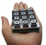 vandal proof 12 keys industrial metal keypad for security access control made for Taiwan market