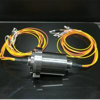 Long Distance Transmission Through Bore Slip Ring Fiber Electrical Connector For Video Monitoring