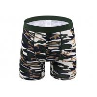 Sport Long Leg Boxer Shorts For Man , Cotton Men
