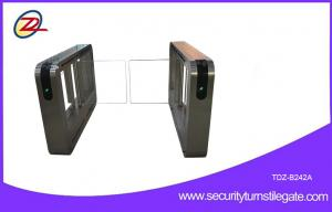China Bidirectional Automatic Glass supermarket swing gate With RFID Access Control on sale