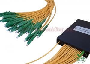 China ABS Box Type PLC Fiber Optic Splitter 1x4 1x8 1x16 1x32 for CATV Network / FTTH on sale