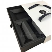 Black Color Custom Rigid Boxes For Skin Care Product Packaging With Handles