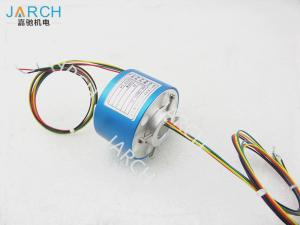 China 12.7mm Stable Performance Through Bore Slip Ring , 500RPM 12A Rotary Connector on sale