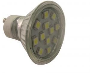 China GU10 12 leds 5050SMD glass cup light led spot light bulb 220v ac on sale
