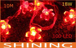 China Indoor 220V / 110V ROHS Red LED Decorative String Light 50000h Long Life on sale