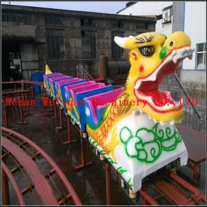 China 6 cabins 20 seats fiberglass musical Kiddie Ride Indoor Mini Roller Coaster Sliding Dragon for Sale on sale