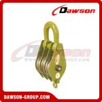 DAWSON DSPB-F3 Hook (Chain link) Series Closed Double Wheel Pulley  from China Manufacturer