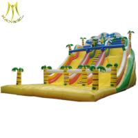 Hansel low price outdoor games cheap inflatable water slide for kids wholesale