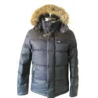 Vintage Men Fur Hooded Down Coat Windbreaker Waterproof Down Jacket