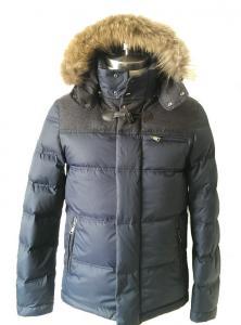 China Vintage Men Fur Hooded Down Coat Windbreaker Waterproof Down Jacket on sale